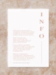 BLOC information card wedding invitation stationery