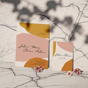 serene wedding stationery collection