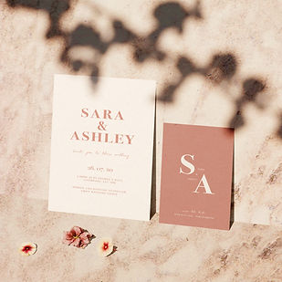 bloc wedding stationery collection