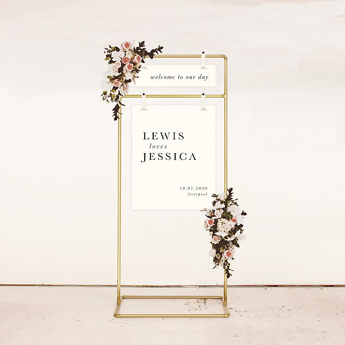 Kinfolk Two Piece Welcome Sign