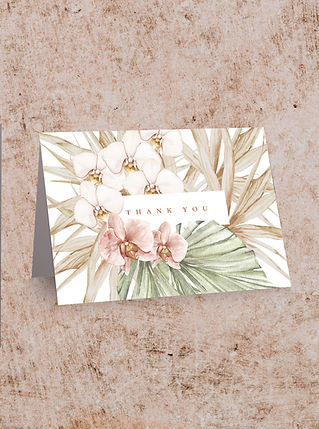 THANK YOU CARD FROM THE BOHO WEDDING STA