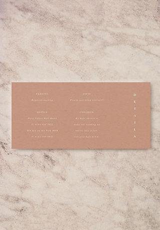 wedding invitation information card