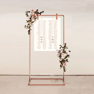 SEATING CHART table plan signage