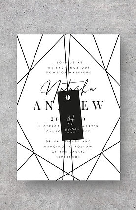 invitation name tag wedding stationery