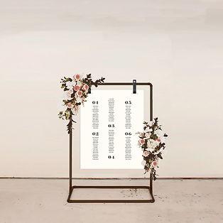 table plan wedding stationery signage