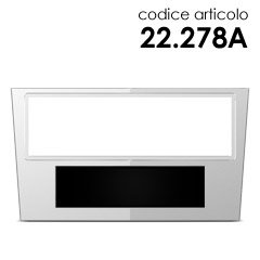 MASCHERINA MONT AUTORADIO CORSA/ZAFIRA/ASTRA/ANTARA07 ARGENTO