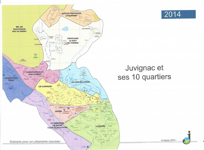 plan de Juvignac: les quartiers