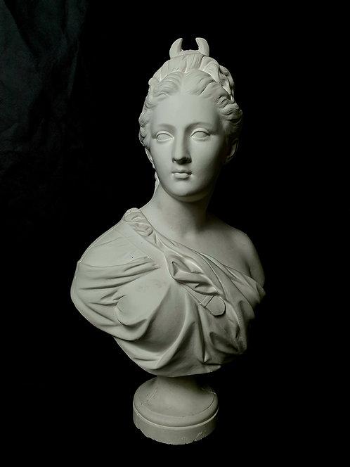Diane buste drapé | Houdon | Musée du Louvre