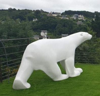 Ours blanc -Grand modèle | Pompon