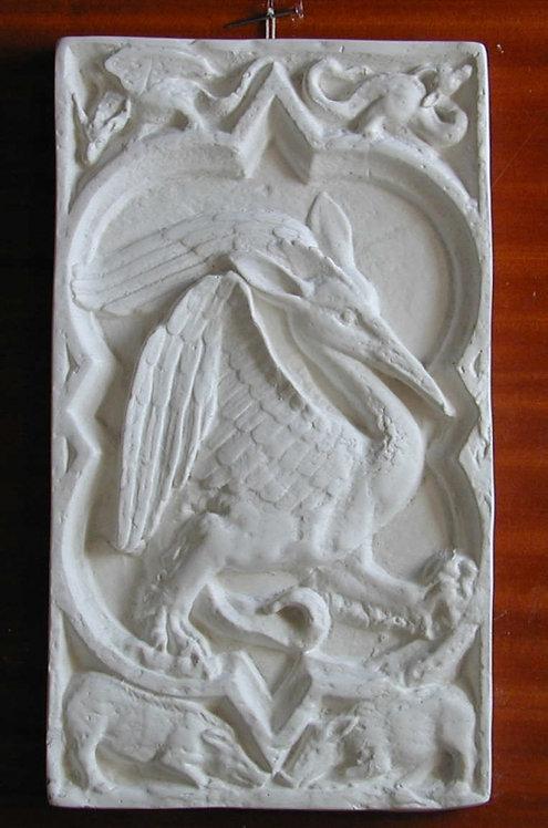 Quadrilobe Le dragon pelican  | XIVe siècle | Cathédrale