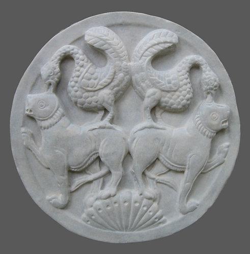 Oiseaux et Lions | Médaillons | XIIe siècle | Musée de Picardie à Amiens