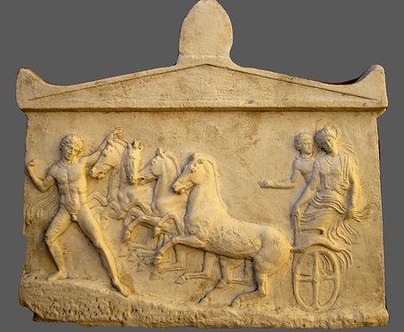 Quadrige, Echelos enlevant Basile | Musée d'Athènes