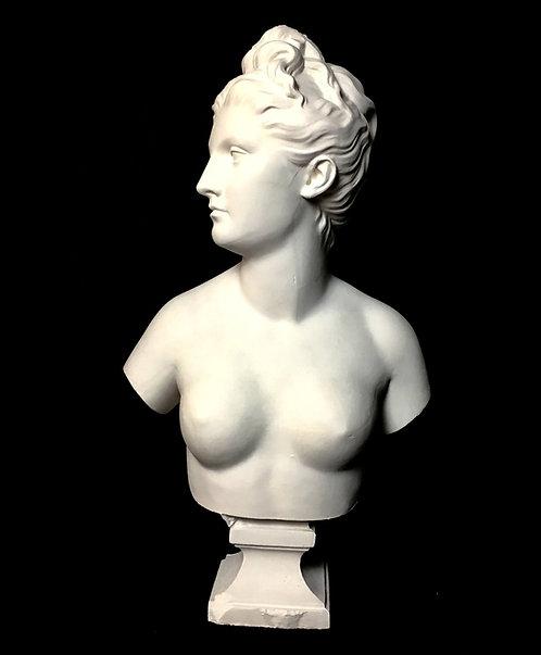 Diane buste poitrine nue | Houdon | Musée du Louvre