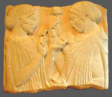 Exaltation de la fleur | Art Ionien | Ve siècle avant J-C | Musée du Louvre