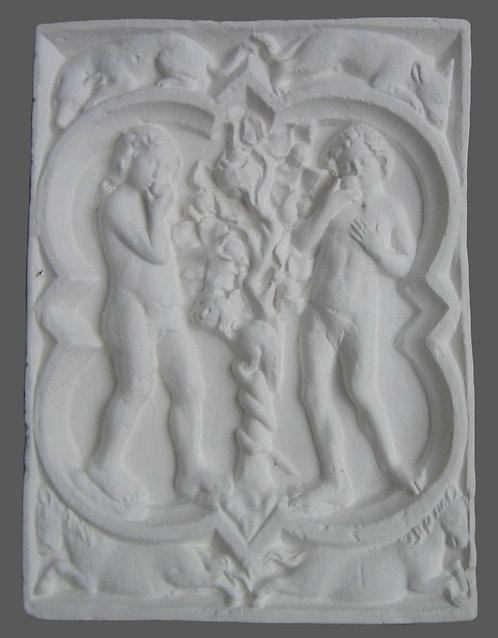 Quatrefeuille Adam et Eve | XIVe siècle | Cathédrale de Rouen