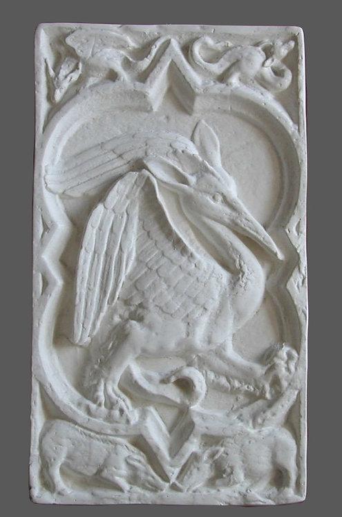 Quatrefeuille Oiseau fantastique | XIVe siècle | Cathédrale de Rouen