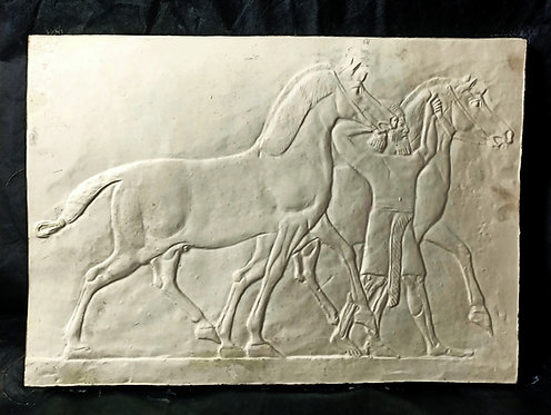Ecuyer conduisant 2 Chevaux | Assyrie