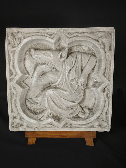 Quadrilobe Hybride: Le cochon philosophe  | XIVe siècle | Cathédrale de Rouen