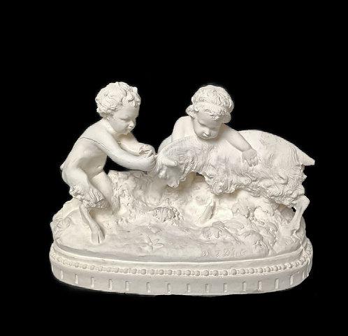 Enfants satyres jouant avec un bouc | Jean d'Asté