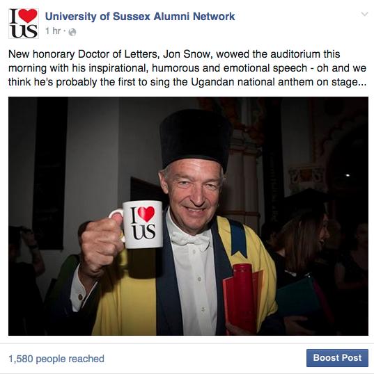 Jon Snow, U of S Graduation, 2015