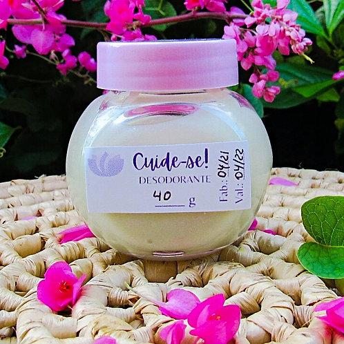 Desodorante Natural em Creme   Tampinha Rosa