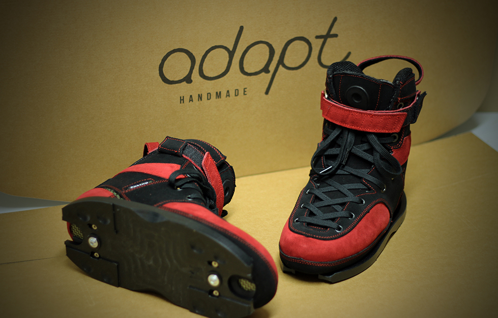 Stealth: Black & Bright Red Nubuck