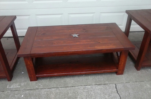 Rustic Coffee Table / Double End Table Combo