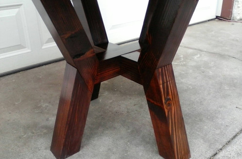 This Round Table Is Very Sturdy Doesnt Sway And Customizable With Both Size Stain Colors The Pictured 53 Across Top Standard