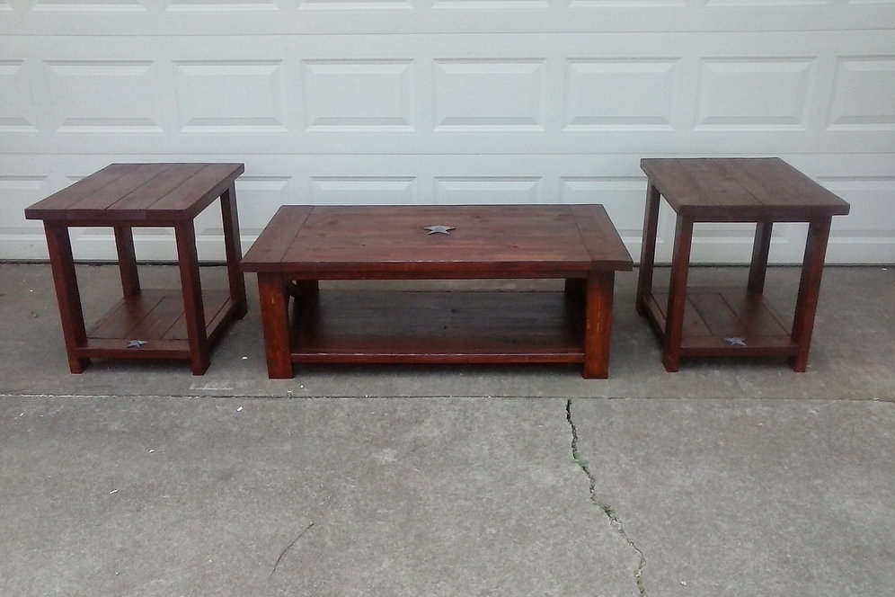 Rustic Coffee Table Double End Combo Tables