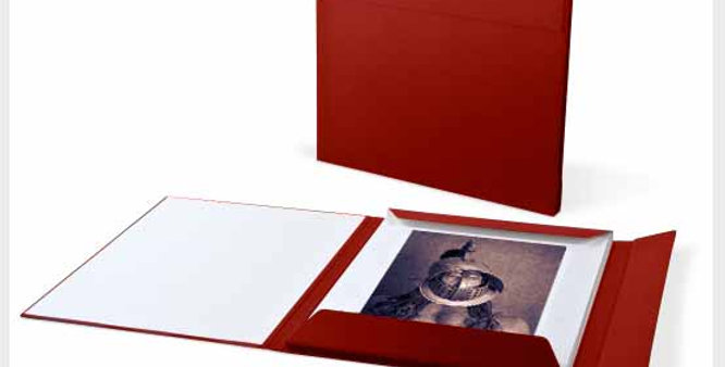 "Ten 9x12""Chocolate Print Portfolio mounted on 14x18 museum boards"