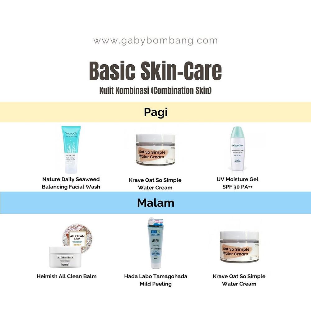 Basic Skincare untuk kulit kombinasi