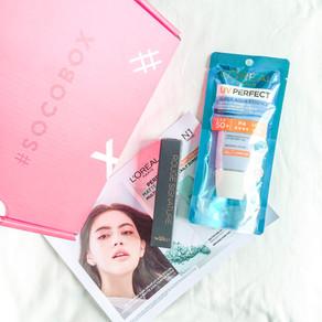 REVIEW: #SOCOBOX Loreal Paris Liquid Lipstick Matte Rouge Signature & UV Perfect Aqua Essence SPF50
