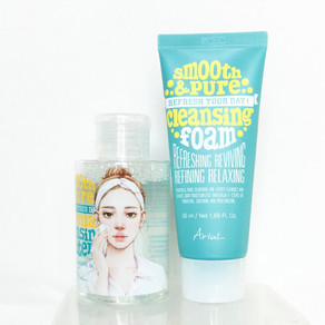 REVIEW: Ariul Smooth & Pure Double Cleansing Kit (Micellar Water & Facial Wash)
