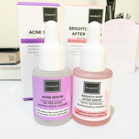 REVIEW: Scarlett Whitening Acne Serum & Brightly Ever After Serum