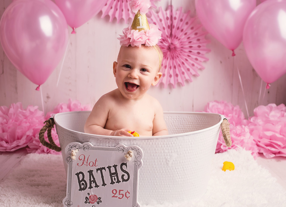 For Penny, the bath session is definitely the best part of the shoot!