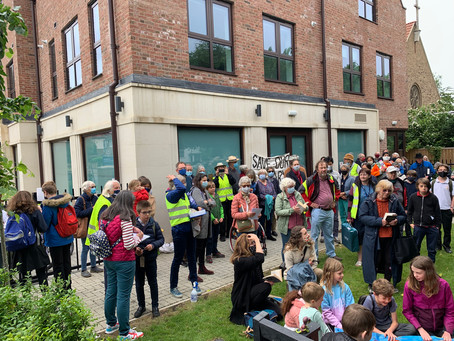 Protest against sale of library