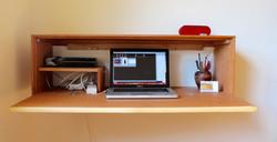 inside the floating desk
