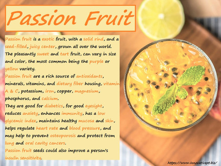 Passion Fruit Facts...