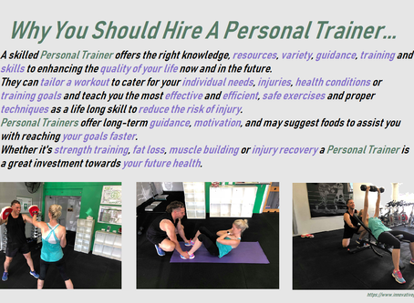 Personal Training Benefits...