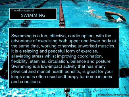 The Advantages Of Swimming...