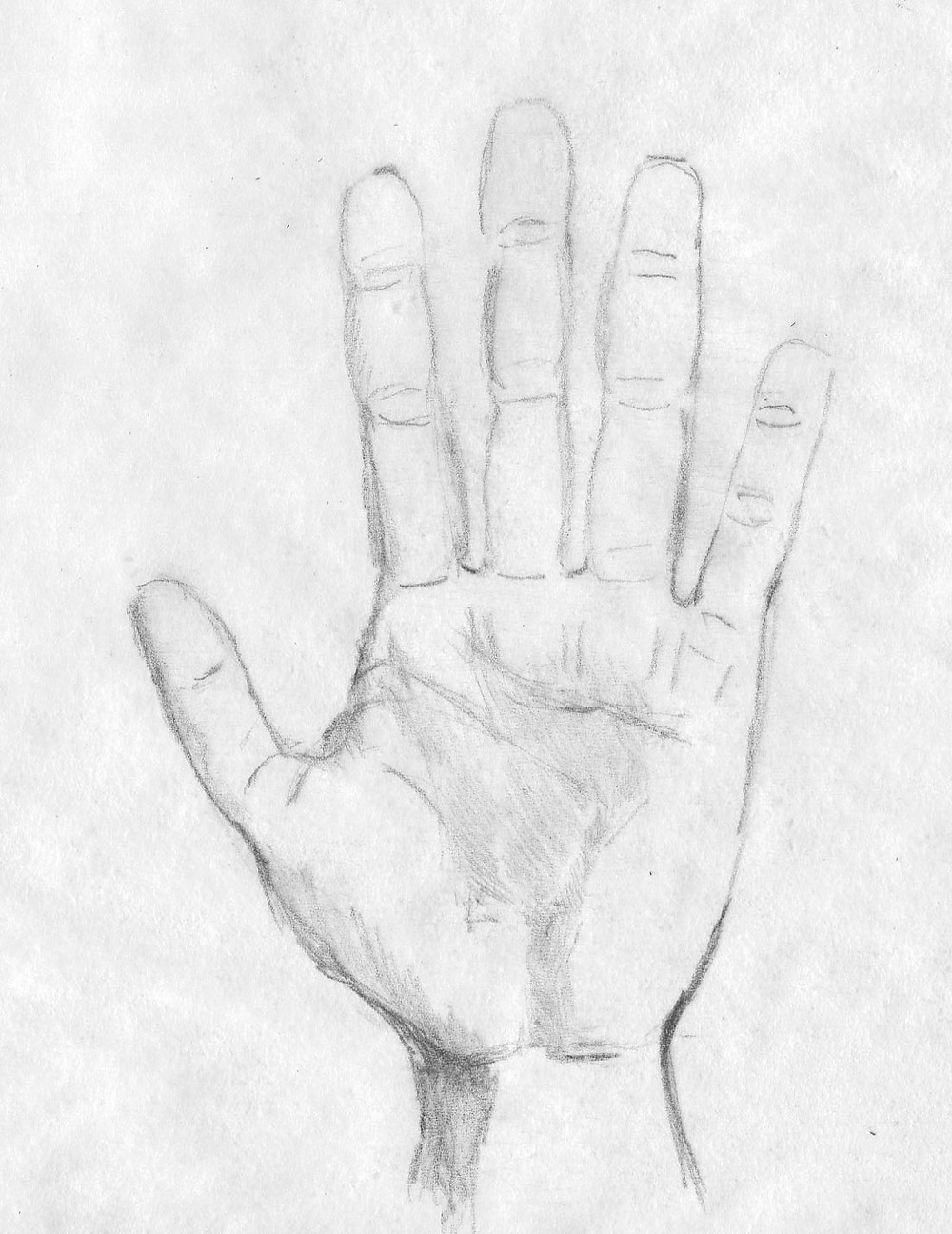 how to draw the hand rendered
