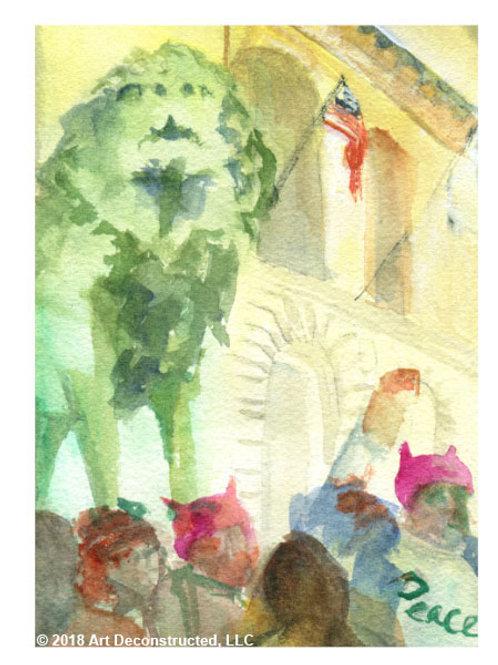 """Women's March Chicago Giclée Fine Art Print (11""""X14"""")"""