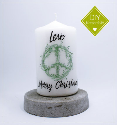 "DIY Kerzenfolie ""Christmas Peace green"""