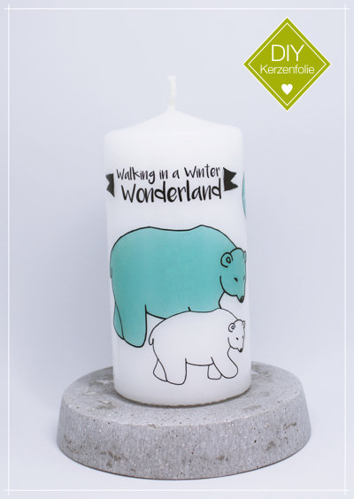 "DIY Kerzenfolie ""Eisbären Wonderland"""