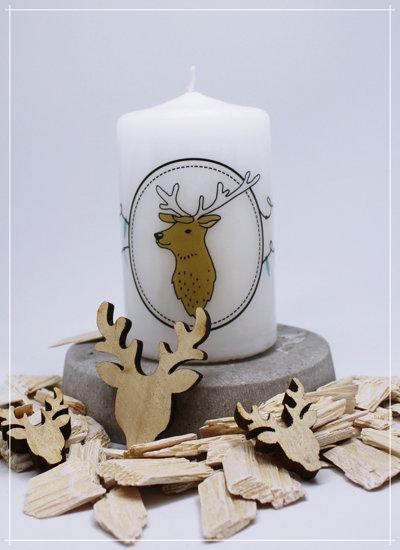 """Kerze """"Nordic Deer Lampions"""""""