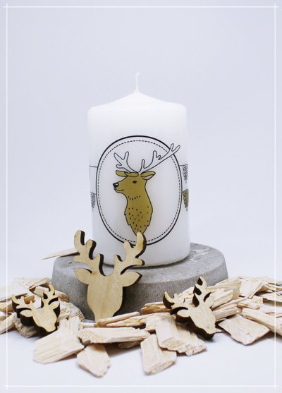 """Kerze """"Nordic Deer Zapfen"""""""