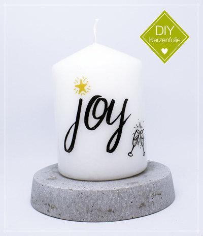"DIY Kerzenfolie ""Joy"""