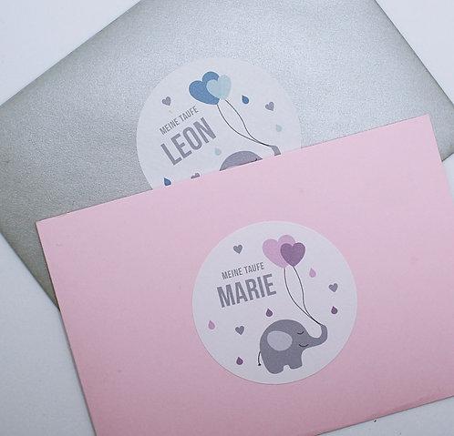 """Sticker """"Elefanten Herz"""""""