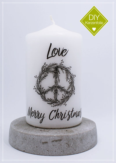 "DIY Kerzenfolie ""Christmas Peace black"""