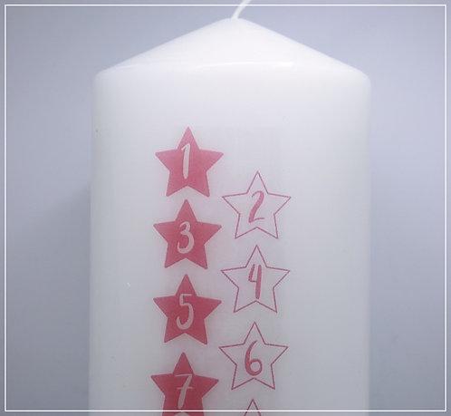 """Lebenskerze """"Sterne rosa"""""""